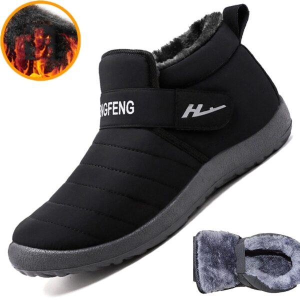 2020 New Fashion Men Boots Warm Men Snow Boots Couple Winter Shoes Comfortable Botas Hombre Outdoor Men Sneakers